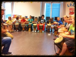 kinderen workshop djembe
