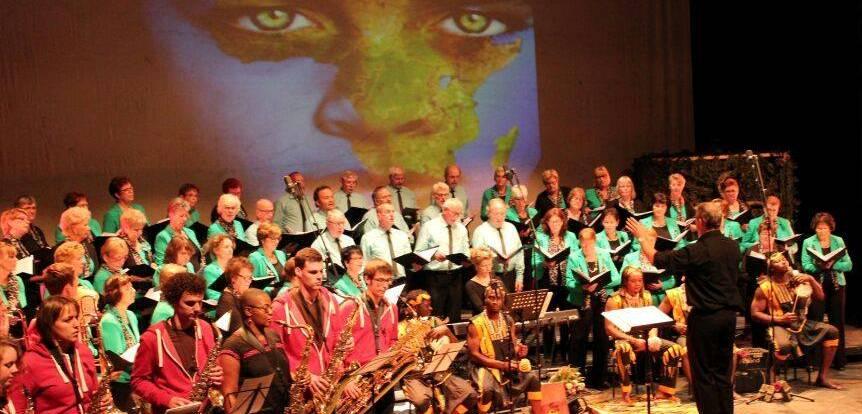 Koorarrangement met Afrikaanse muziek